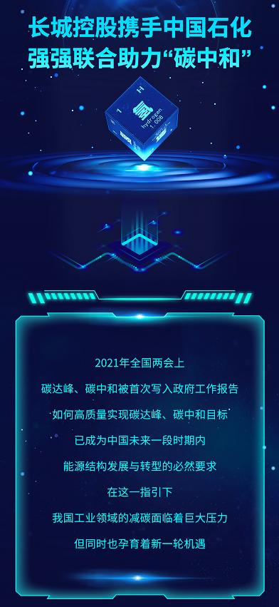 """长城控股携手中国石化强强联合助力""""碳中和"""""""